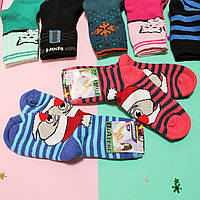 Махровые детские носки на девочку и мальчика с рисунком  р.18