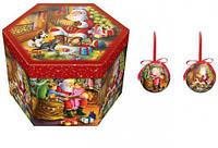Набор новогодних шаров Рождественский Вечер 14шт