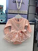 Боди - платье с длинным рукавом для девочки .50