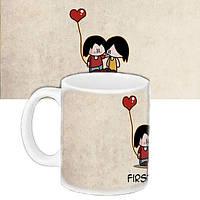 Кружка подарок с принтом Первая любовь (33142)