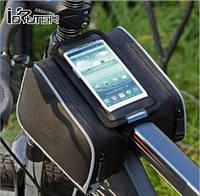 Велосумка на раму ROSWHEEL  с боками, экран до 5.5 вело сумка