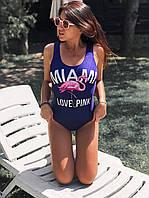 Купальник-боді фламінго Miami Love Pink, жіночі купальники., фото 1