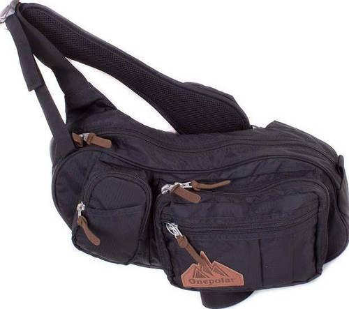 Удобная мужская сумка через плечо ONEPOLAR (ВАНПОЛАР) W3015-black