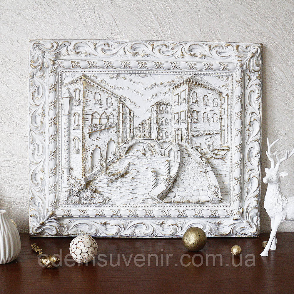 Панно Венеция мостик золото