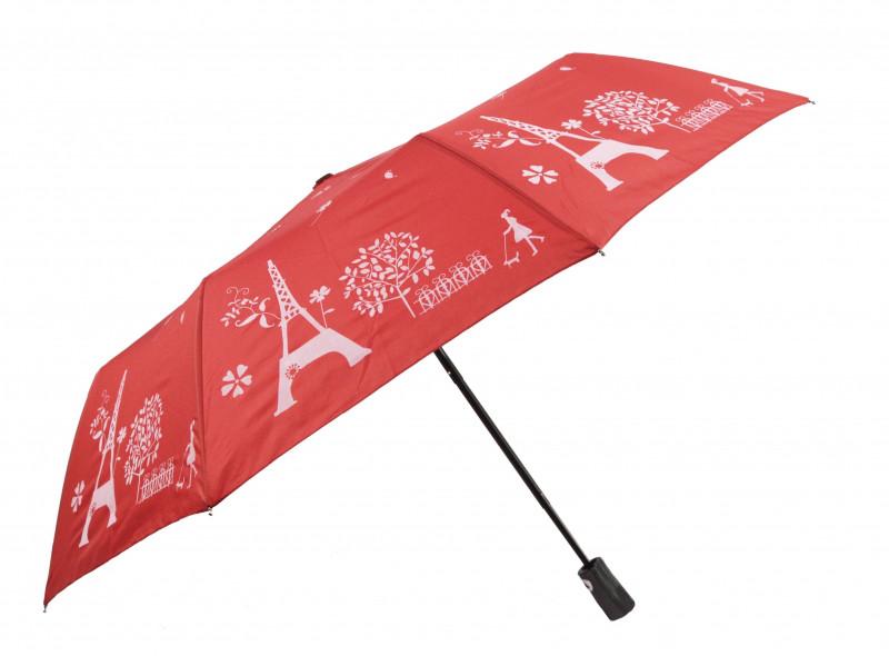 Зонт складной Mario umbrellas полуавтомат Красно-белый (MR-2203-3)
