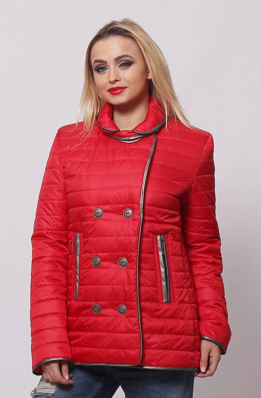 Красная осенняя куртка  42,44,46,48,50