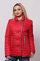 Красная осенняя куртка  42,44,46,48,50, фото 1