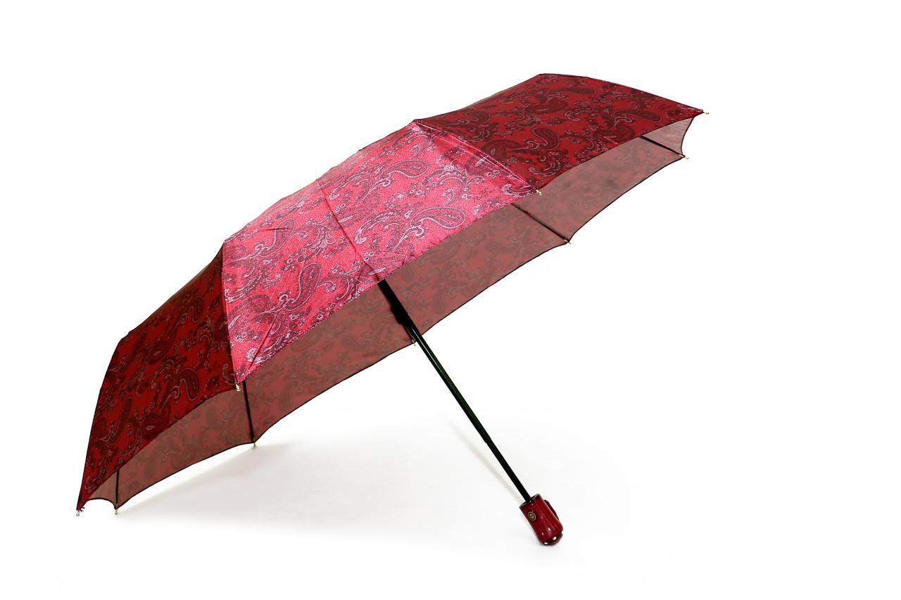Зонт складной PoPular автомат Малиновый (MR-948-1)