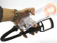 Вакуумна помпа для чоловіків з насадкою для маструбації 19*5,5 см