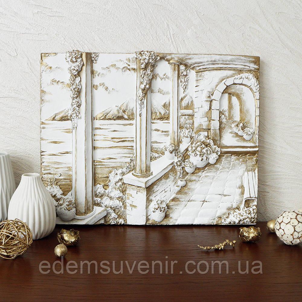 Панно Итальянский дворик золото малое