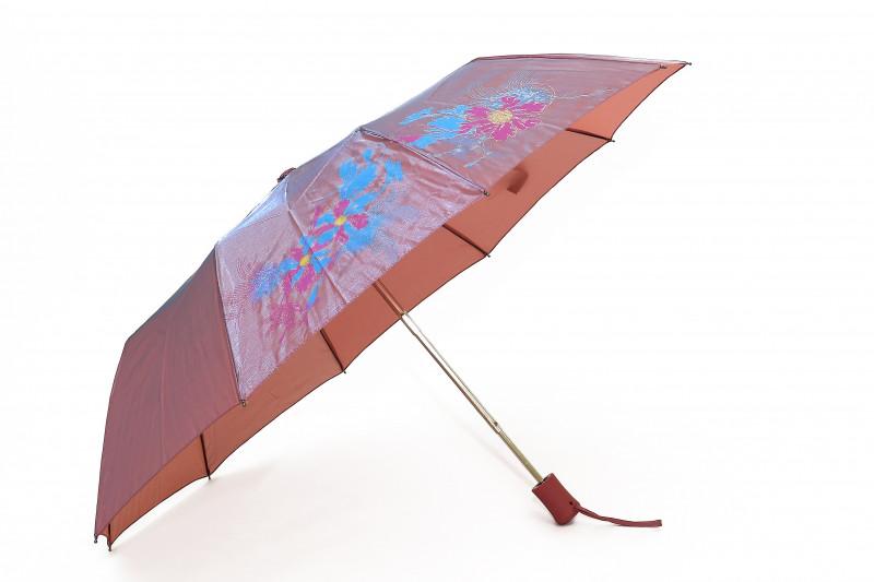 Зонт складной S/L полуавтомат Голубой с бежевым (MR-2018-2)