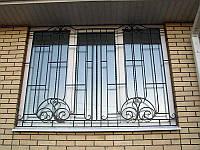 Кованая оконная решетка квадрат 12 мм., Прямая