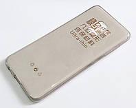 Чохол для Samsung Galaxy A8 A530f (2018) силіконовий ультратонкий прозорий сірий