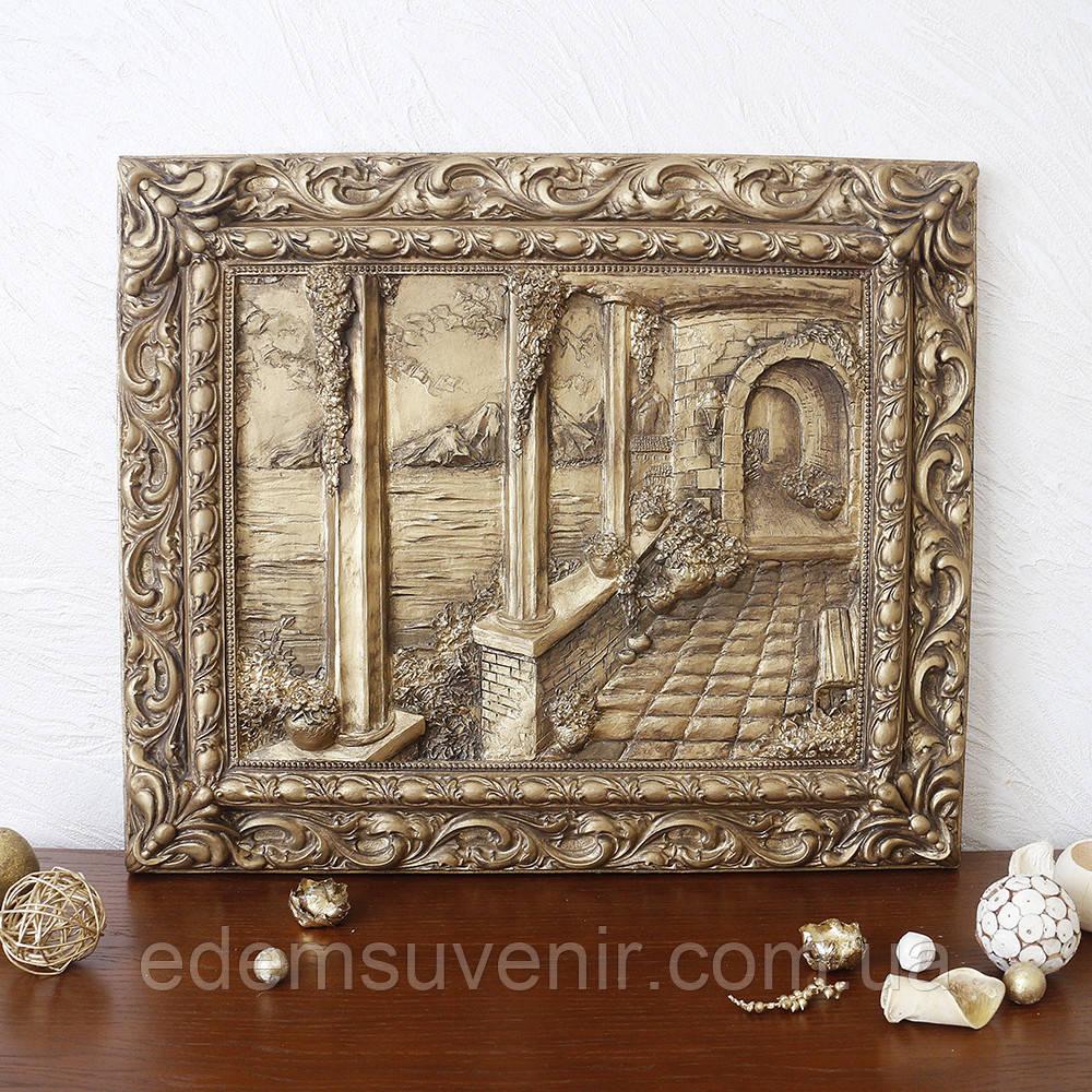 Панно Итальянский дворик бронза