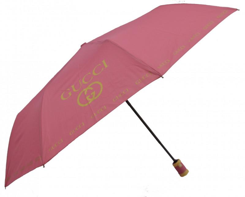 Зонт складной Calm Rain полуавтомат Малиновый (MR-515-11)