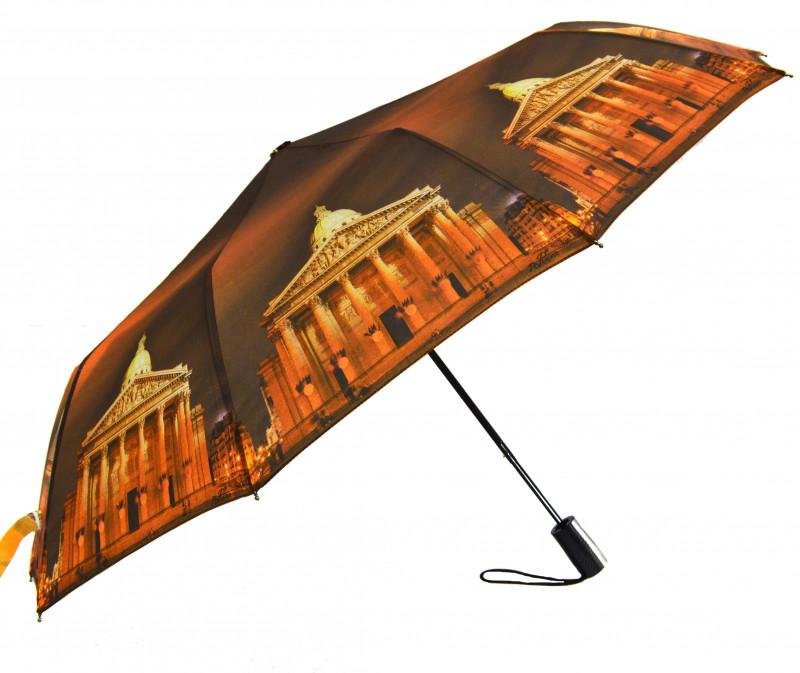 Зонт складной Mario umbrellas полуавтомат Коричнево-оранжевый (MR-145-6)