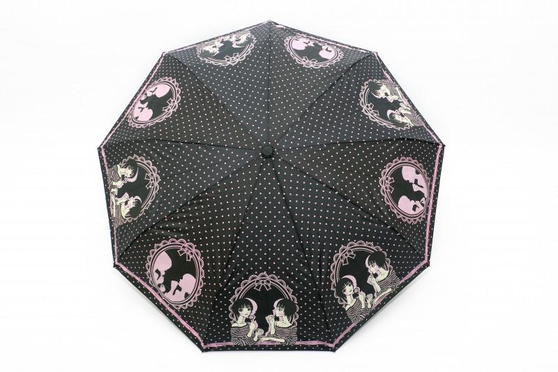 Зонт складной Frei Regen автомат Черно-розовый (MR-563-1)