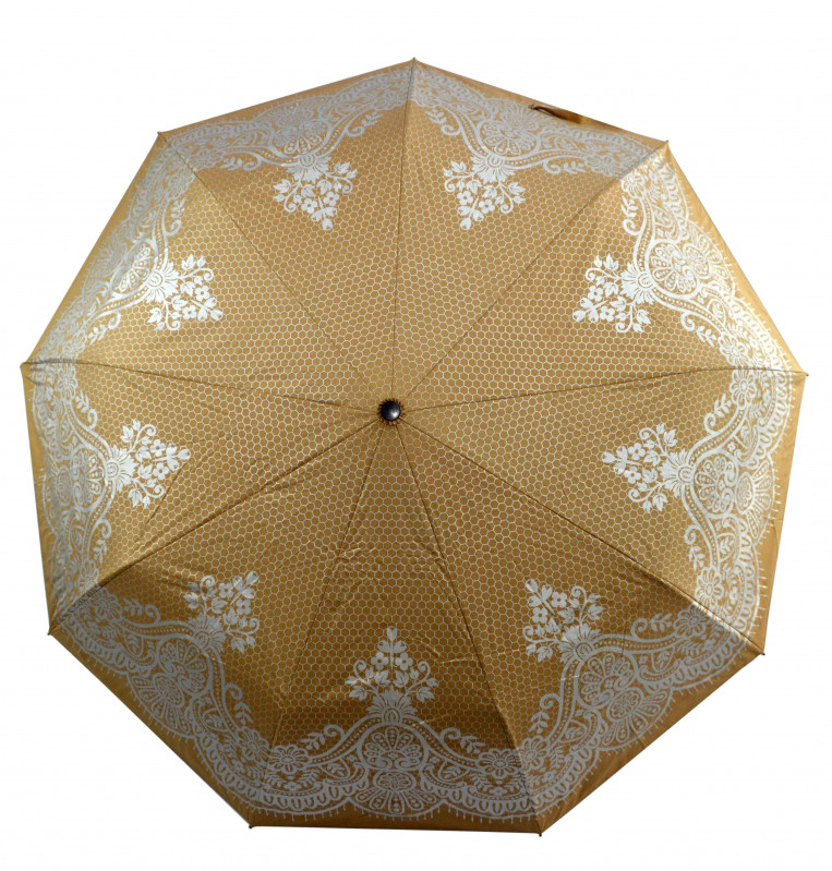 Зонт складной Mario umbrellas полуавтомат Светло-бежевый с серебристым (MR-9903-2)