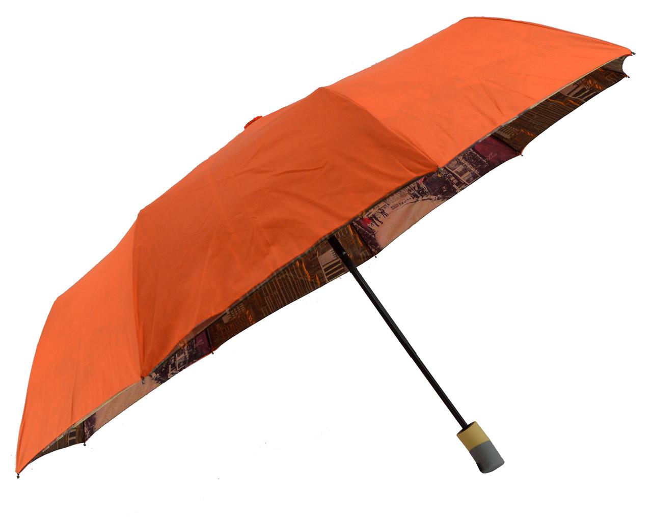 Зонт складной Mario umbrellas полуавтомат Оранжевый (MR-1001-4)