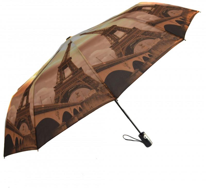Зонт складной Mario umbrellas полуавтомат Коричнево-желтый (MR-145-1)