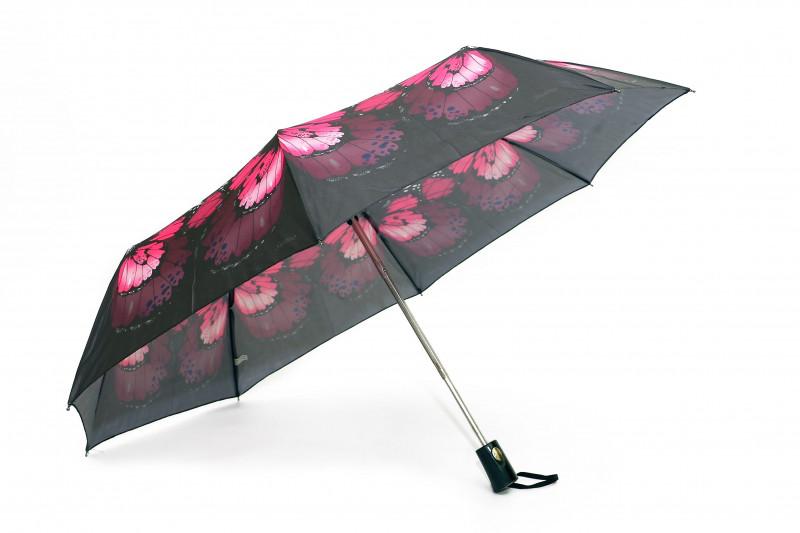 Зонт складной S/L полуавтомат Черно-розовый (MR-35006-5)