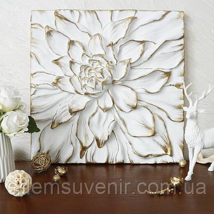 Панно Цветок Пион золото, фото 2