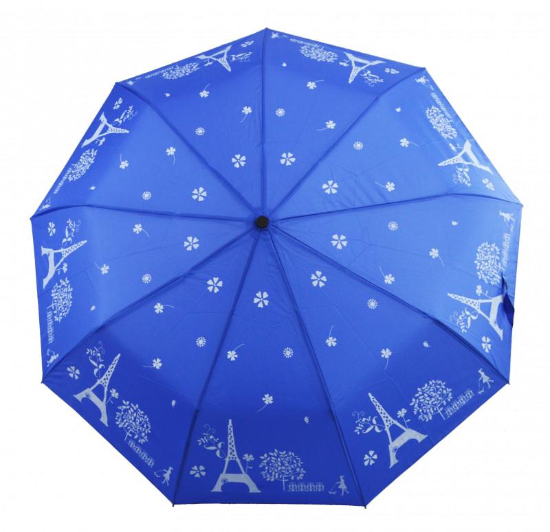 Зонт складной Mario umbrellas полуавтомат Сине-белый (MR-2203-8)