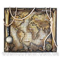 Панно Древняя карта мира цветное, фото 2