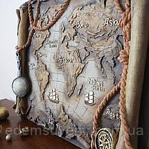 Панно Древняя карта мира цветное, фото 3
