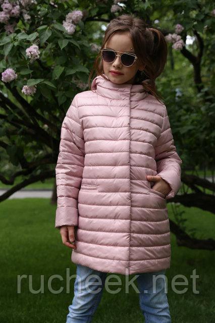 Плащ детский Никса, куртка удлиненная для девочки р-ры 116, 122, 128,