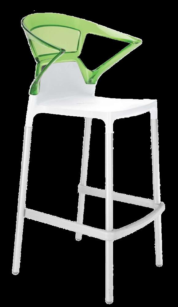 Барне крісло Papatya Ego-K біле сидіння, верх прозоро-зелений