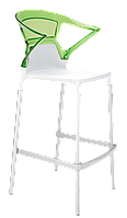 Барне крісло Papatya Ego-K біле сидіння, верх прозоро-зелений, фото 1