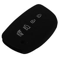 Силиконовый чехол на ключ Hyundai Avante Mistra Grandeur Соната Santafe Smart Remote 4 кнопки, фото 1