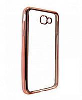Силиконовый чехол Utty Electroplating TPU на Samsung J5 Prime G570F Pink