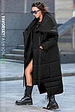Пуховик-Одеяло «Клайд с большим воротником цвет черный, фото 4