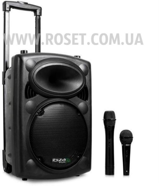 Колонка профессиональная на колесиках + микрофон - SkyRocket BT12A+ 1000W