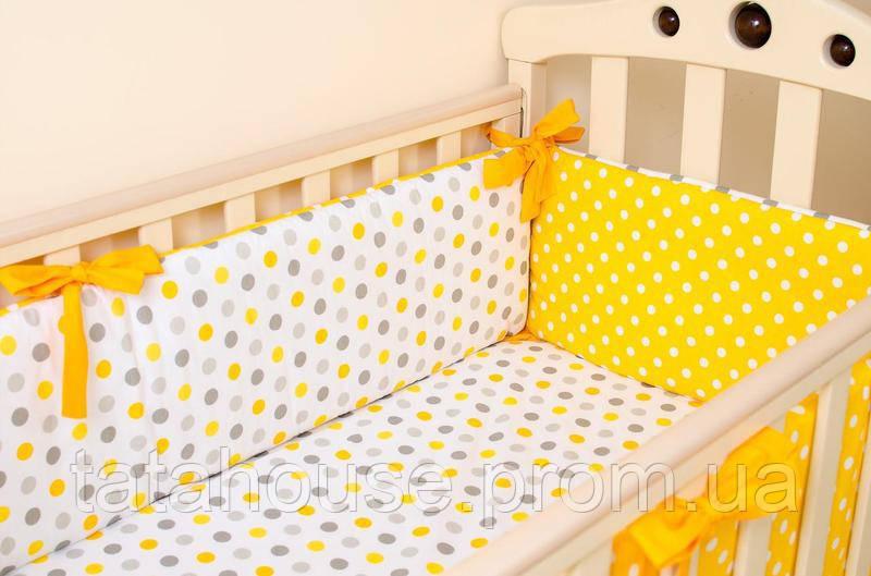 """Бортики в детскую кроватку """"Солнышко"""" + простынь на резинке"""