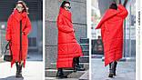 Пуховик-Ковдра «Клайд з великим коміром колір червоний, фото 3