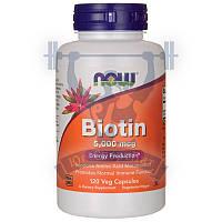 NOW Biotin 5000 биотин для кожи и ногтей от выпадения волос для роста волос снижение сахара для диабетиков