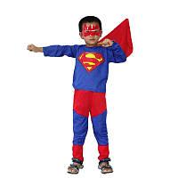 Детский костюм Супермена. Карнавальный костюм супер героя. костюм супермена