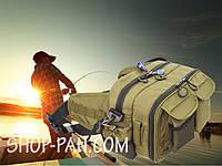 Сумка  спиннингиста поясная + плечо, усиленная, непромокаемая сумка для рыбалки