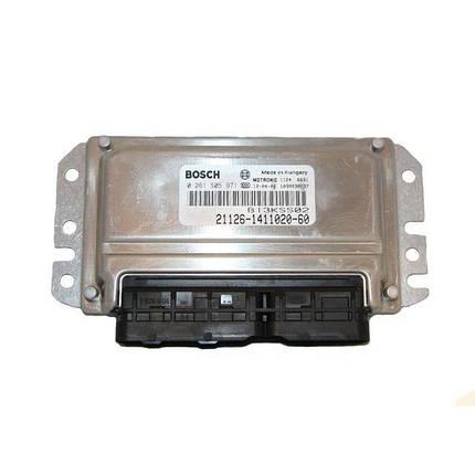 Контроллер системы управления двигателем Bosch 21126-1411020-60, фото 2