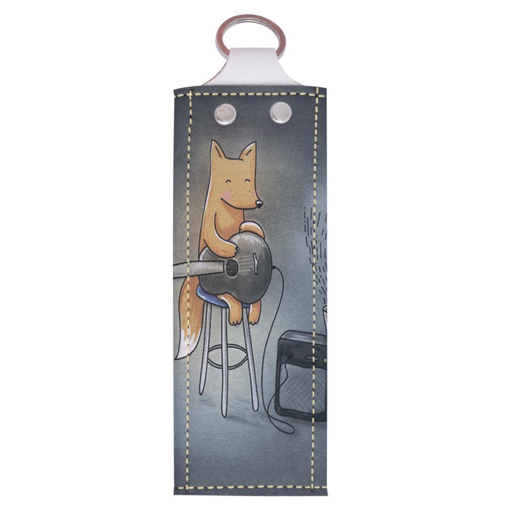 Ключница 1.0 Fisher Gifts 180 Лисичка с гитарой (эко-кожа)