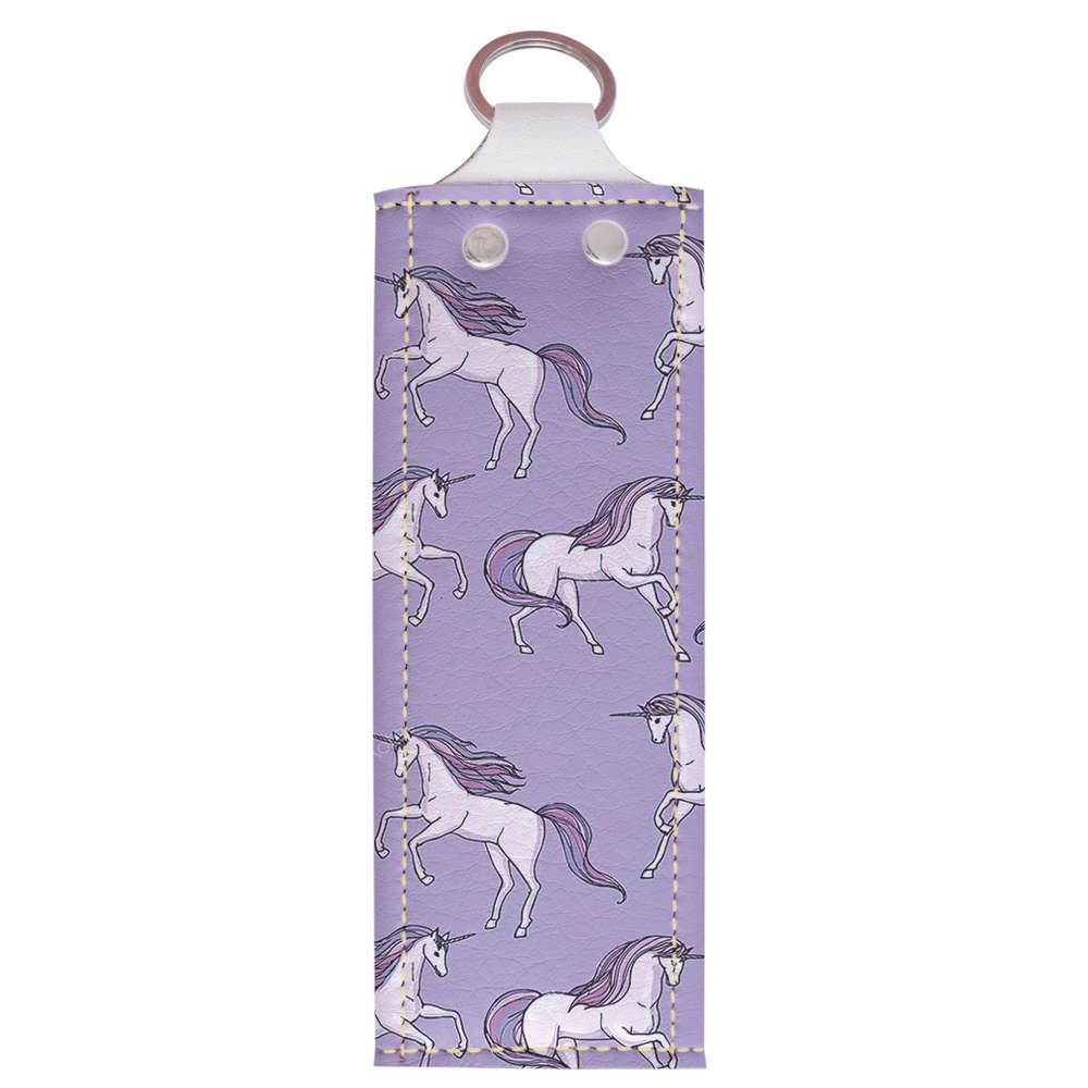 Ключница 1.0 Fisher Gifts 999 Фиолетовые единороги (эко-кожа)