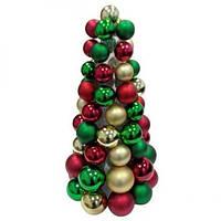 Новогодняя елка с игрушками Санта 38см