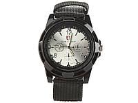 Мужские кварцевые часы Swiss Army  Черный с серебристым