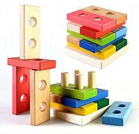 Деревянная пирамидка на логику (Ду-32) Руди, фото 1