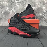 Баскетбольные кроссовки Air Jordan Retro 13 Black/Red/White РЕПЛИКА , фото 1