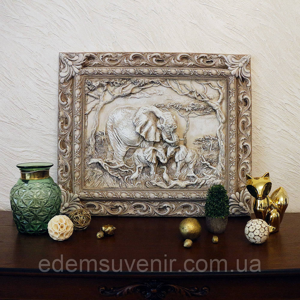 Панно Семья слонов светящееся