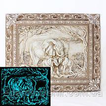 Панно Семья слонов светящееся, фото 2